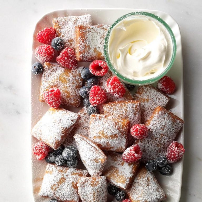 berries and beignets, 4th of July desserts