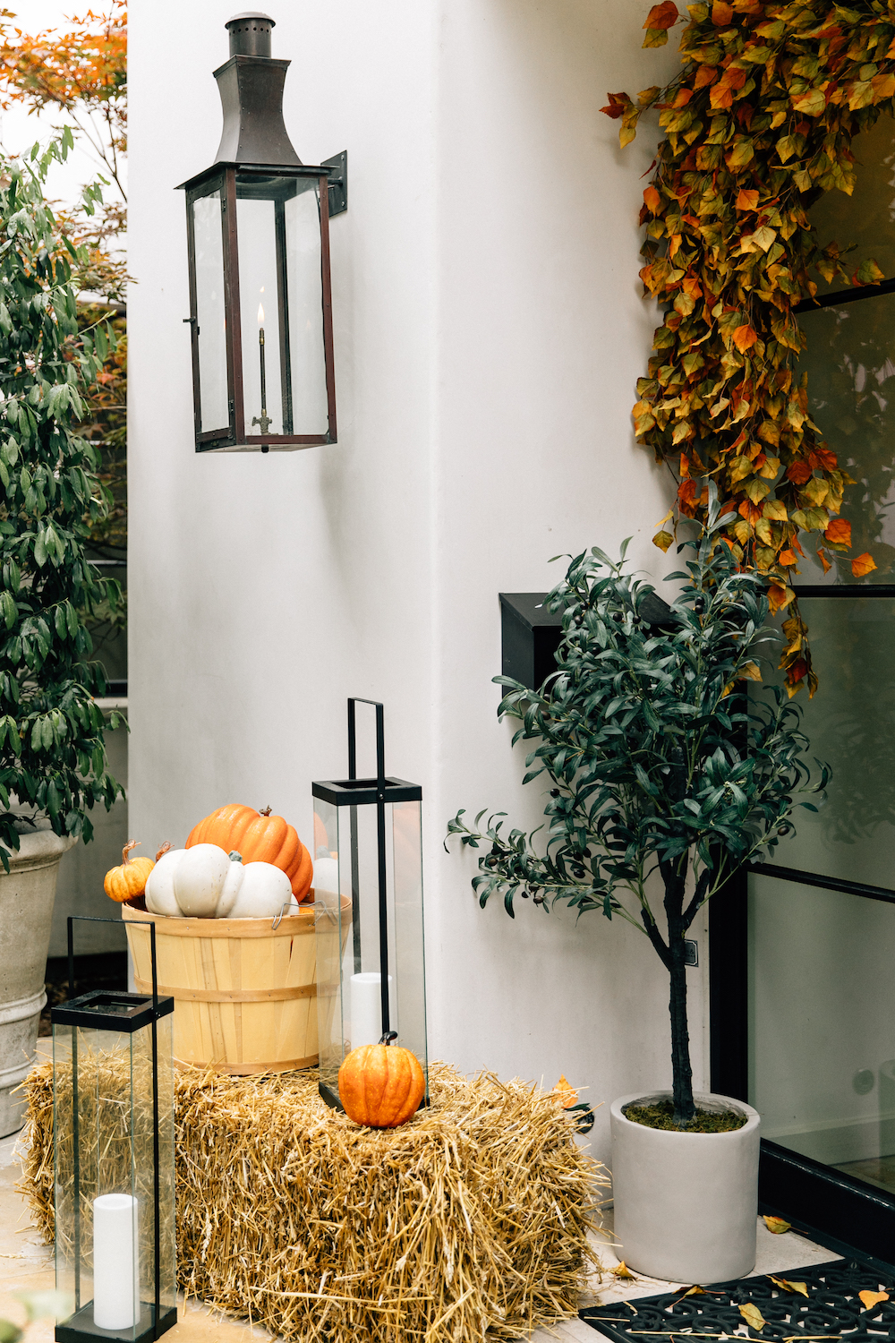 camille's porch gets a fall makeover with target products