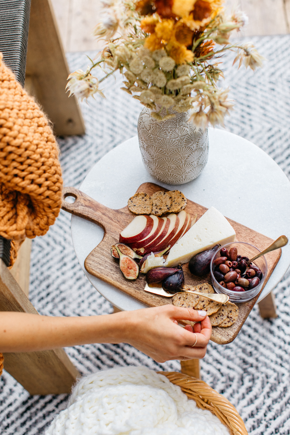 cheese board for a fall gathering