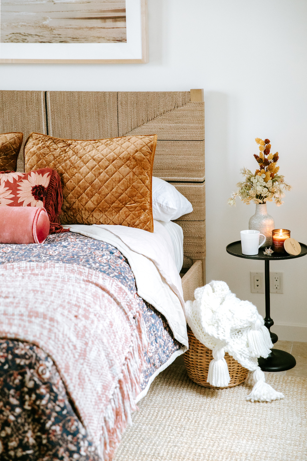 give your bed a fall makeover