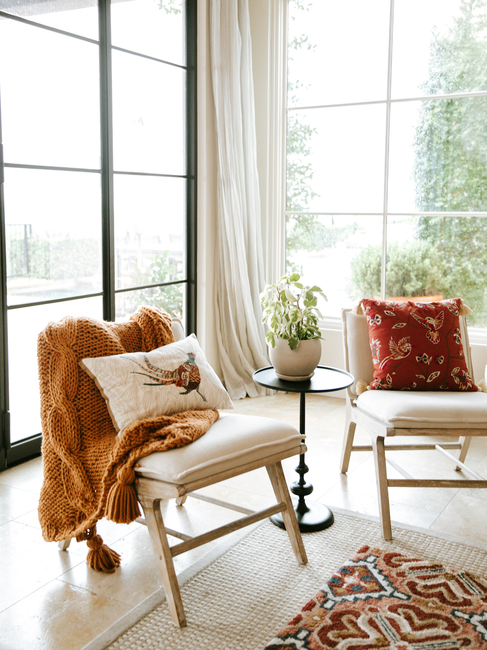 fall pillows and blankets