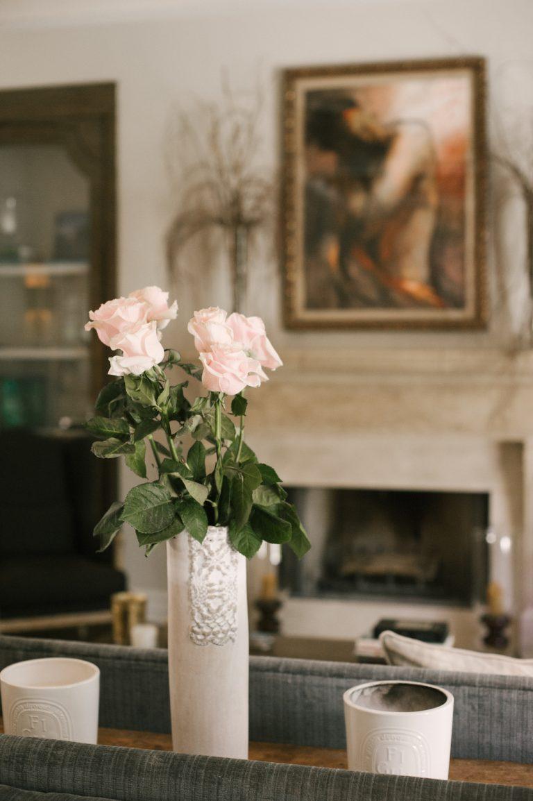 flowers, living room, dream home
