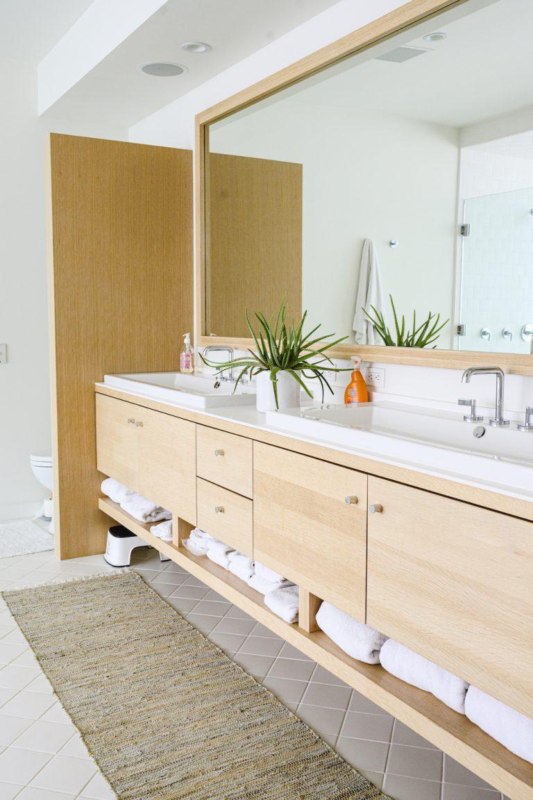 gorgeous modern double vanity in a modern malibu home