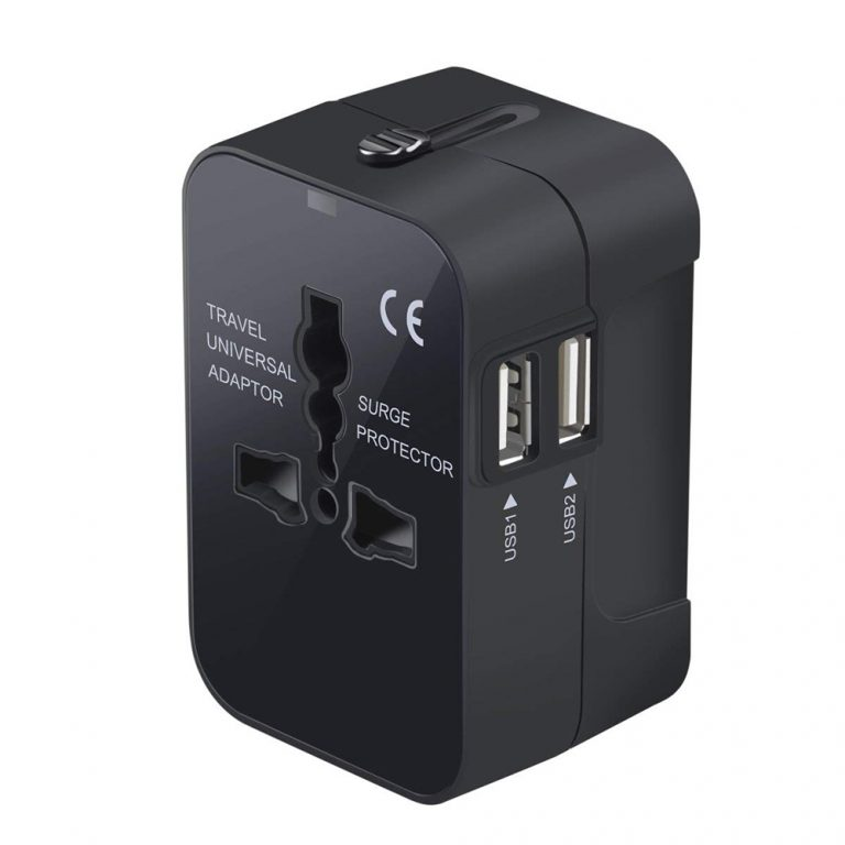All in One Universal Travel Adapter This single travel adapter is good for almost any destination in the world, and beats the more expensive Apple version by having dual USB ports.