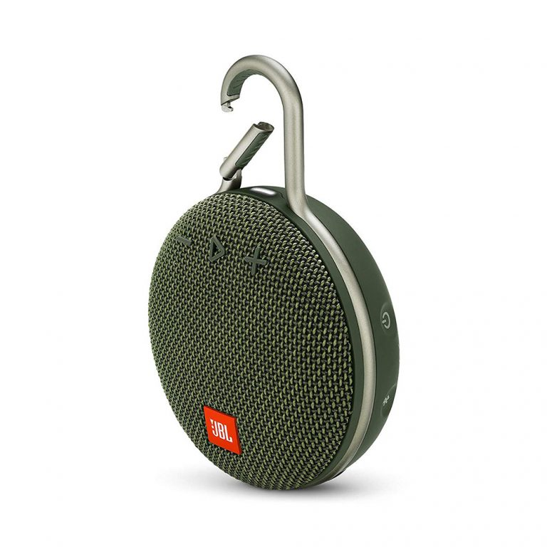 JBL Clip 3 Portable Waterproof Wireless Bluetooth Speaker JBL makes some of the best bluetooth speakers on the market, and the Clip 3 is one of our favorites for being small, clipable, and pretty darn cute (so many colors to choose from!)
