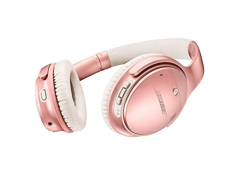 Bose QuietComfort Noise Cancelling Headphones Tune out crying babies, next door parties, or anything else you need to with Bose's top rated noise cancelling headphones (bonus points for the fun rose gold option).