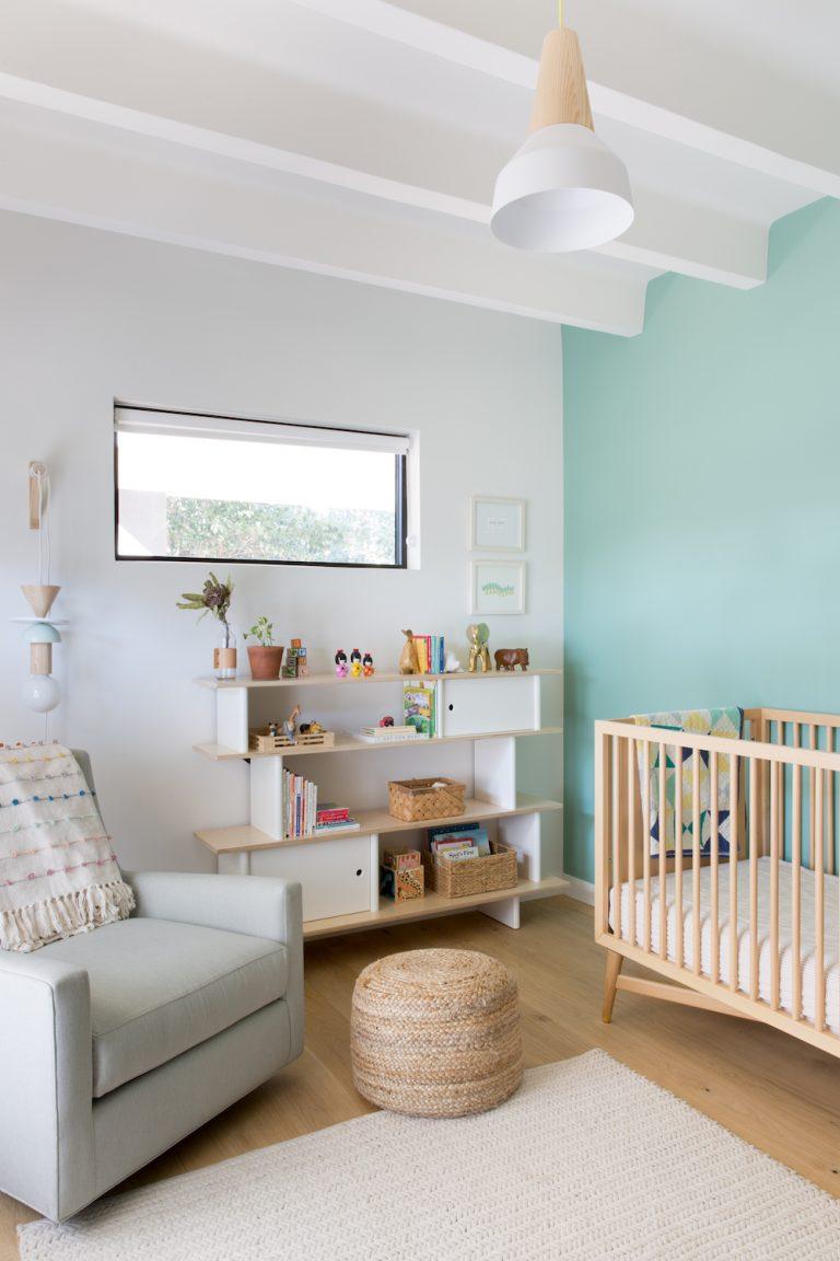 modern unisex nursery in austin
