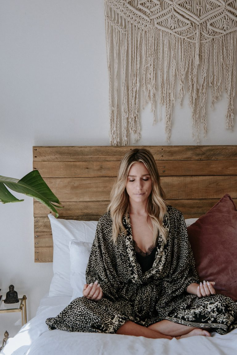 Entertainment reporter Renee Bargh meditates each morning for a full 20 minutes.