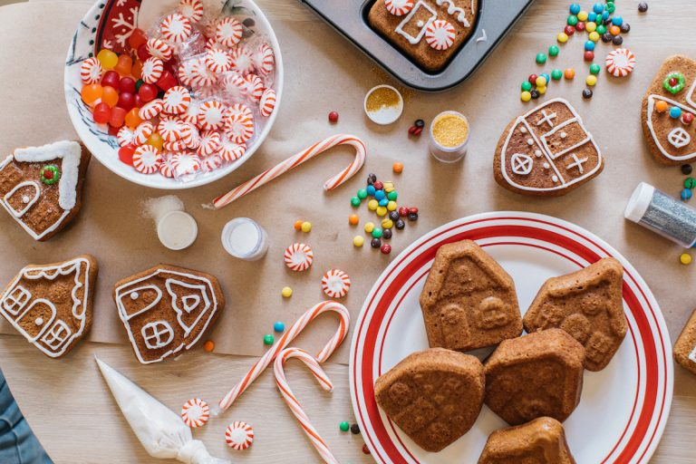 Camille hosts a gingerbread decorating party with Target for Christmas holiday 2019