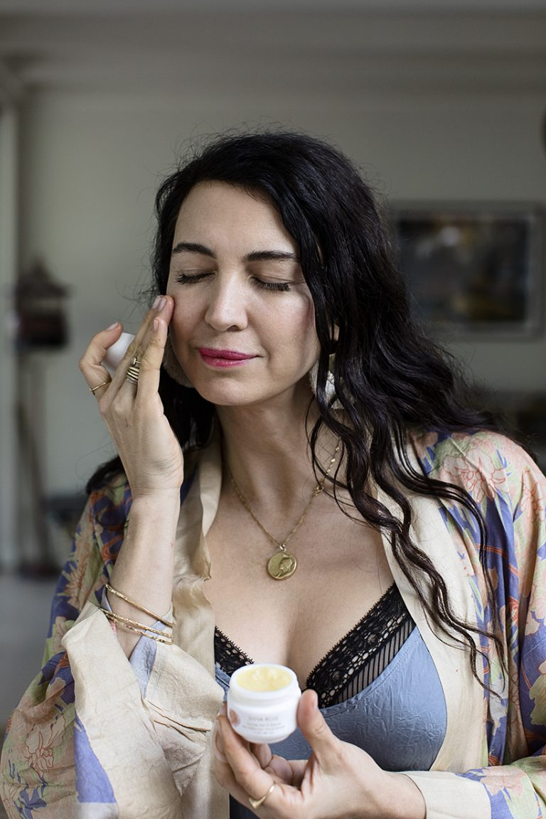 Wellness guru Shiva Rose likes to do coconut oil pulling each morning before taking on the day.