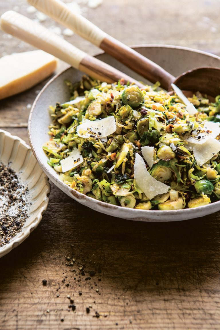 Cacio E Pepe Brussels Sprouts Should Be On Your Thanksgiving Menu this Year