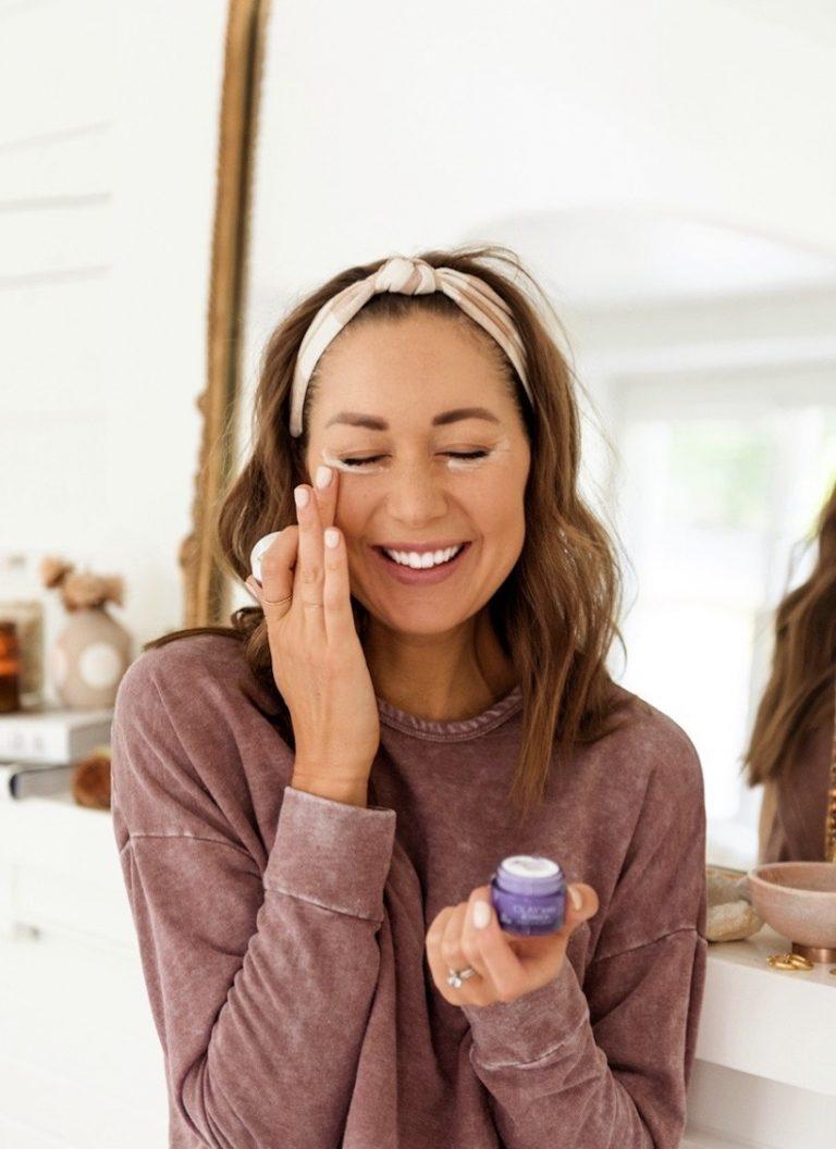 camille styles olay retinol24 skincare