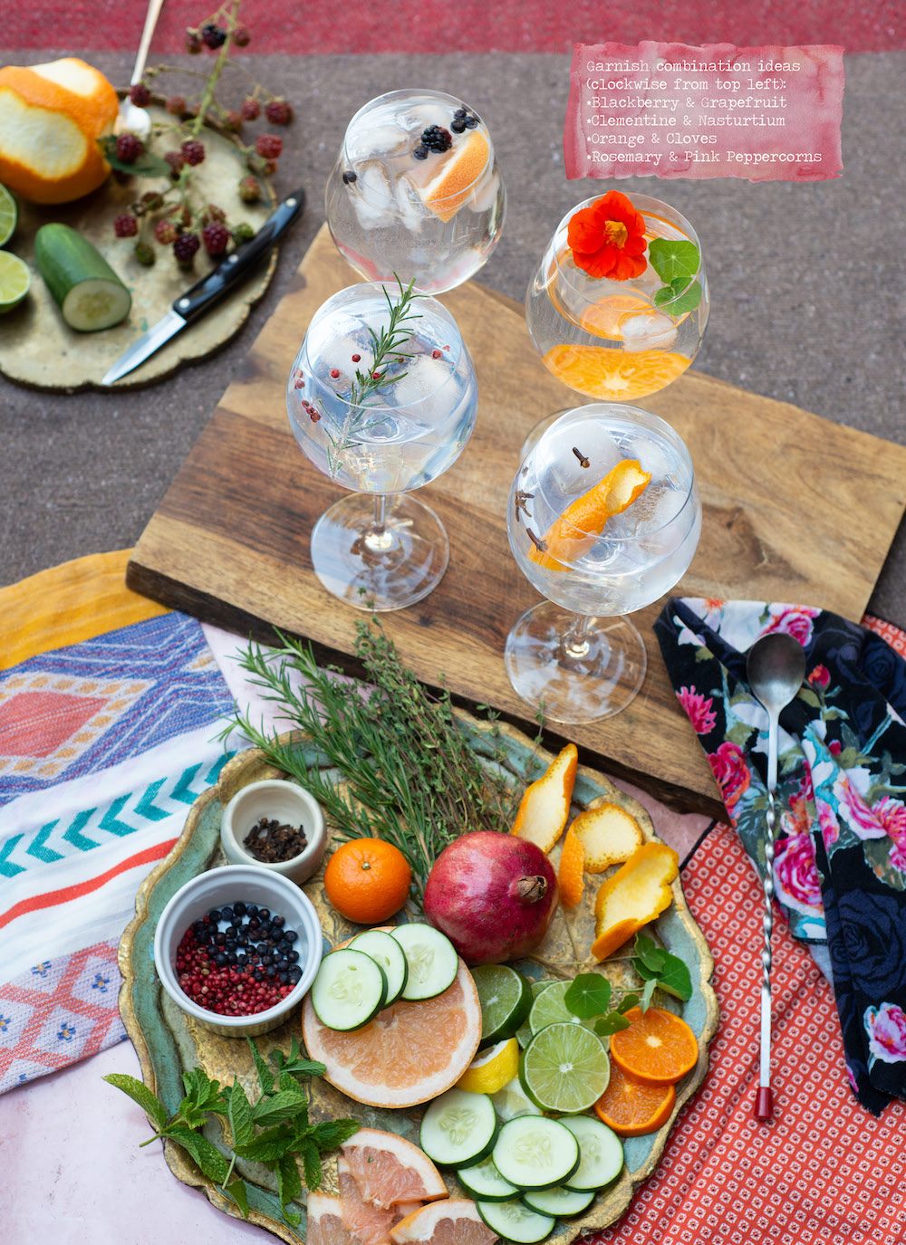 A Gin Tonic Bar Is Your Thanksgiving Cocktail Solution Camille Styles