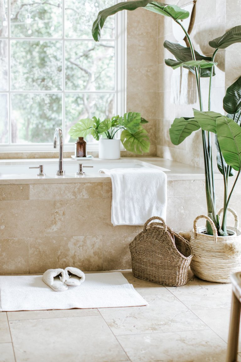 how to easily transform your bathroom into a zen room for the new year with aim