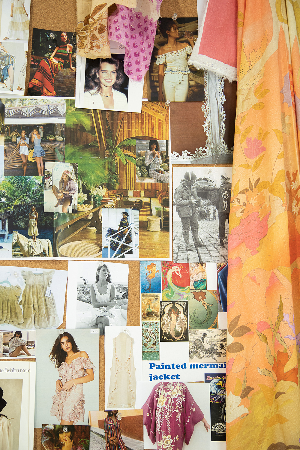 Mood board at Spell & The Gypsy Collective Head Office