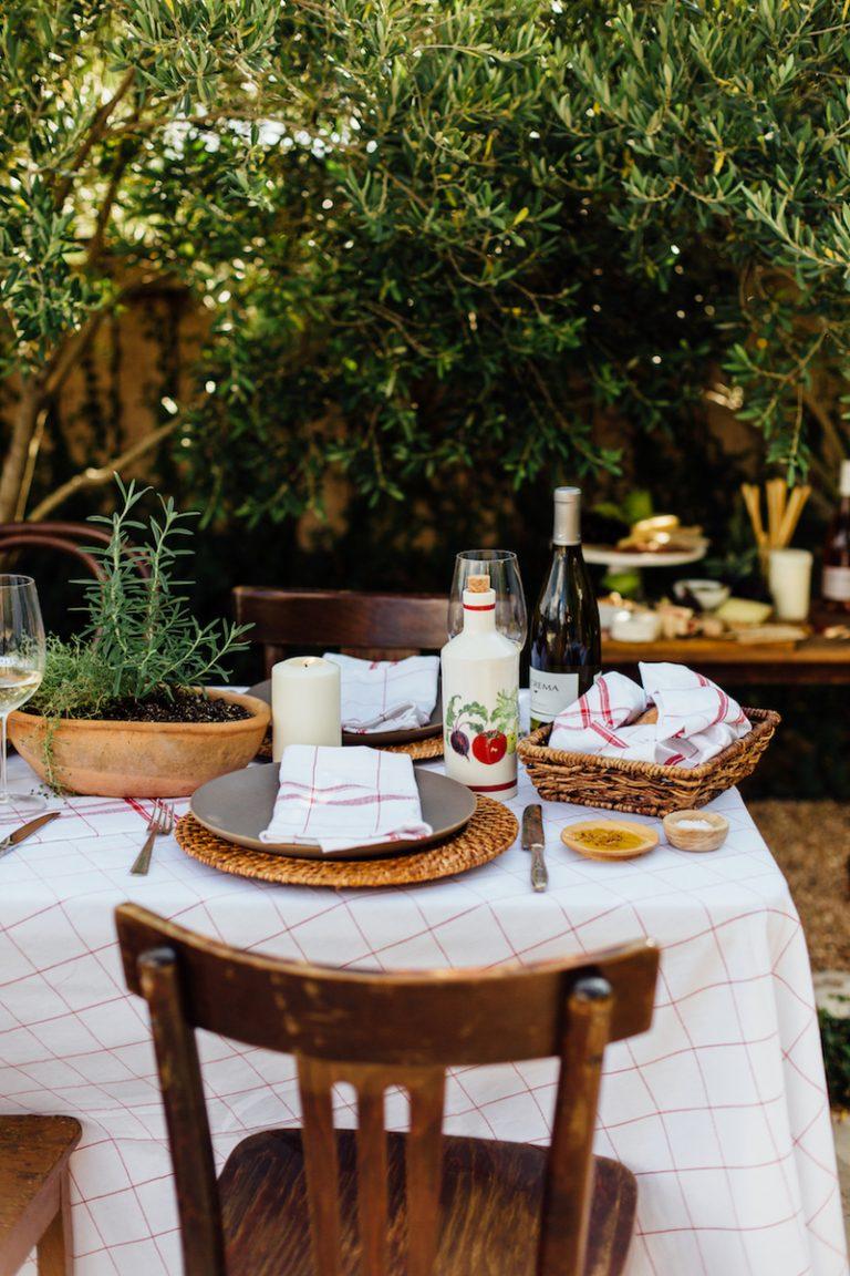 al fresco italian dinner party