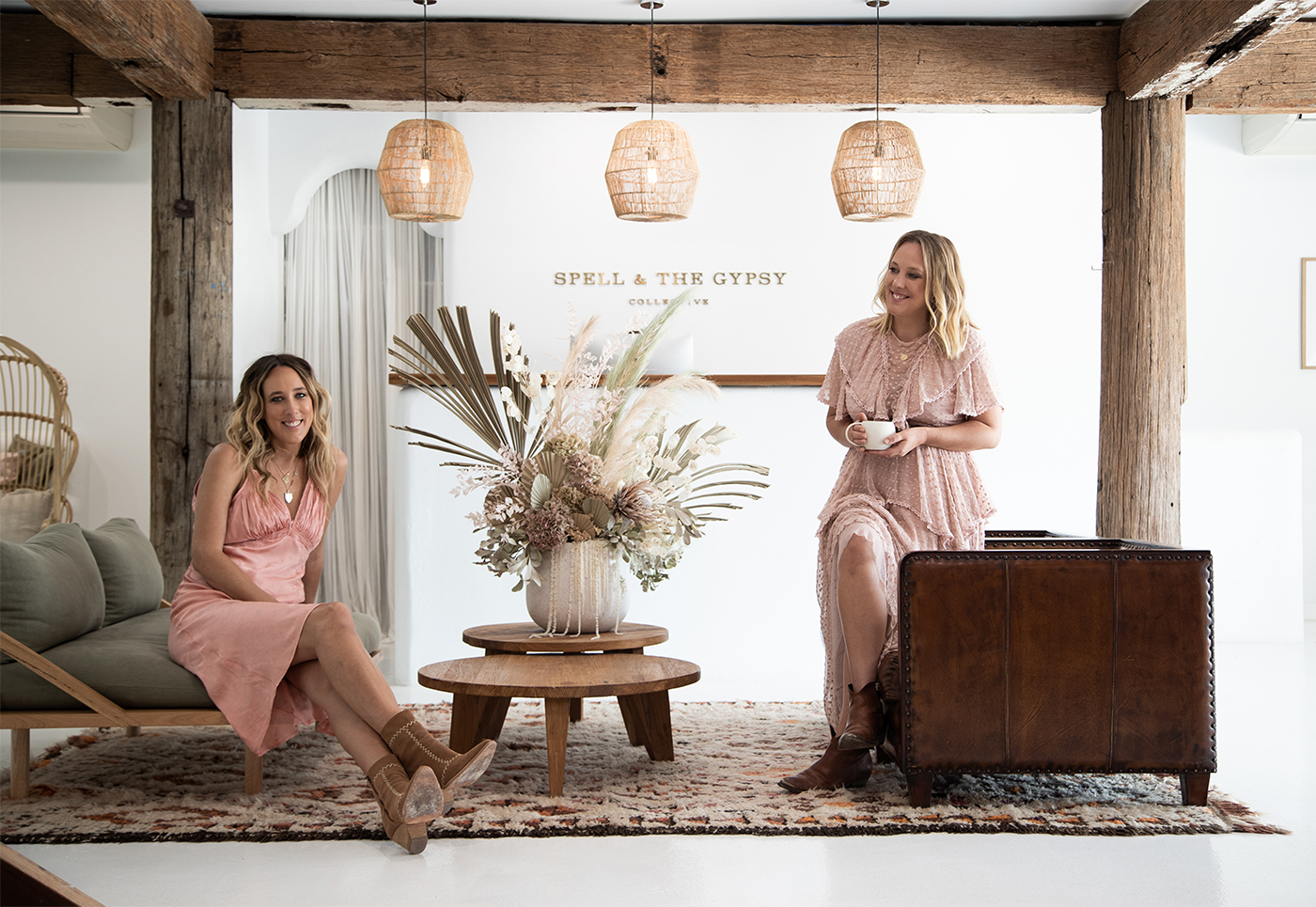 Sisters Elizabeth Abegg and Isabella Pennefather, co-founders of Spell & The Gypsy Collective