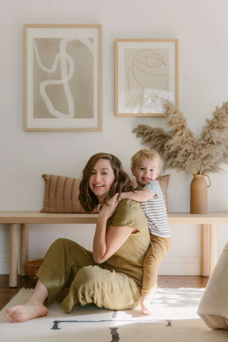 molly madfis' house, almost perfect, house in California, neutral home decoration, mother and son, mom, family