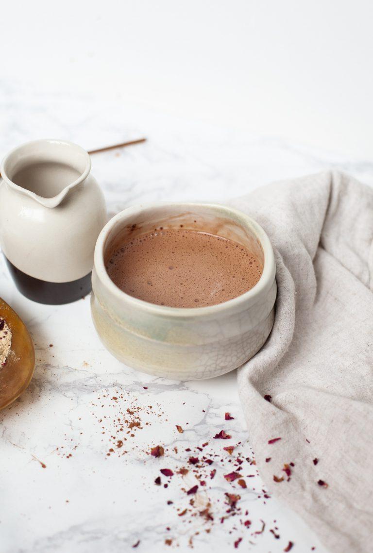 adaptogens, wellness, hot chocolate, cocoa, latte