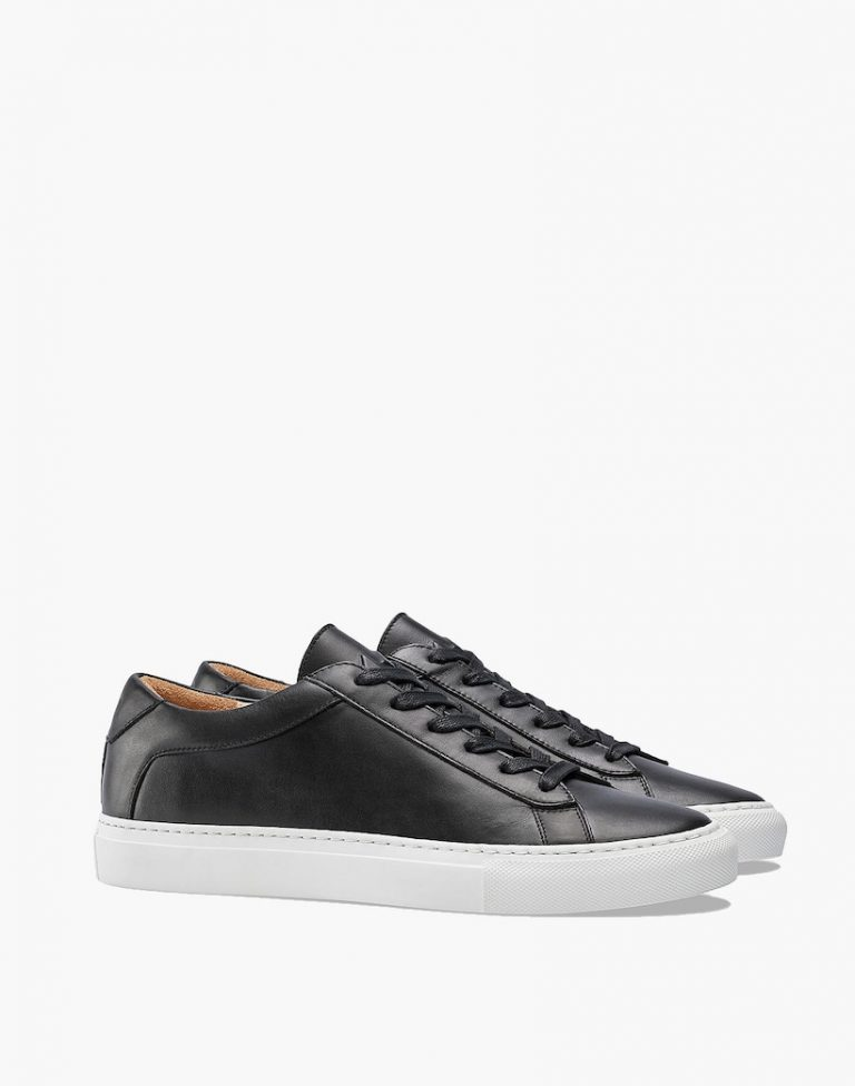 Koio Capri Onyx Low-Top Sneakers in Black Leather