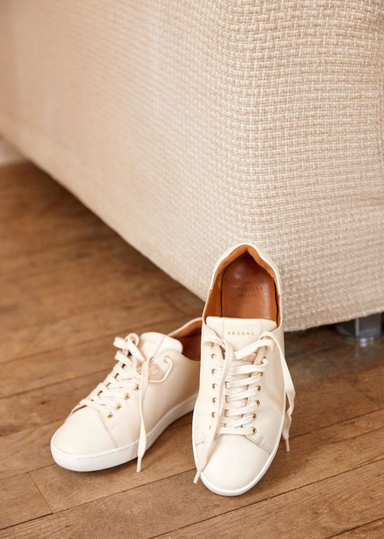 sezane sneakers, white sneakers, sneakers for spring