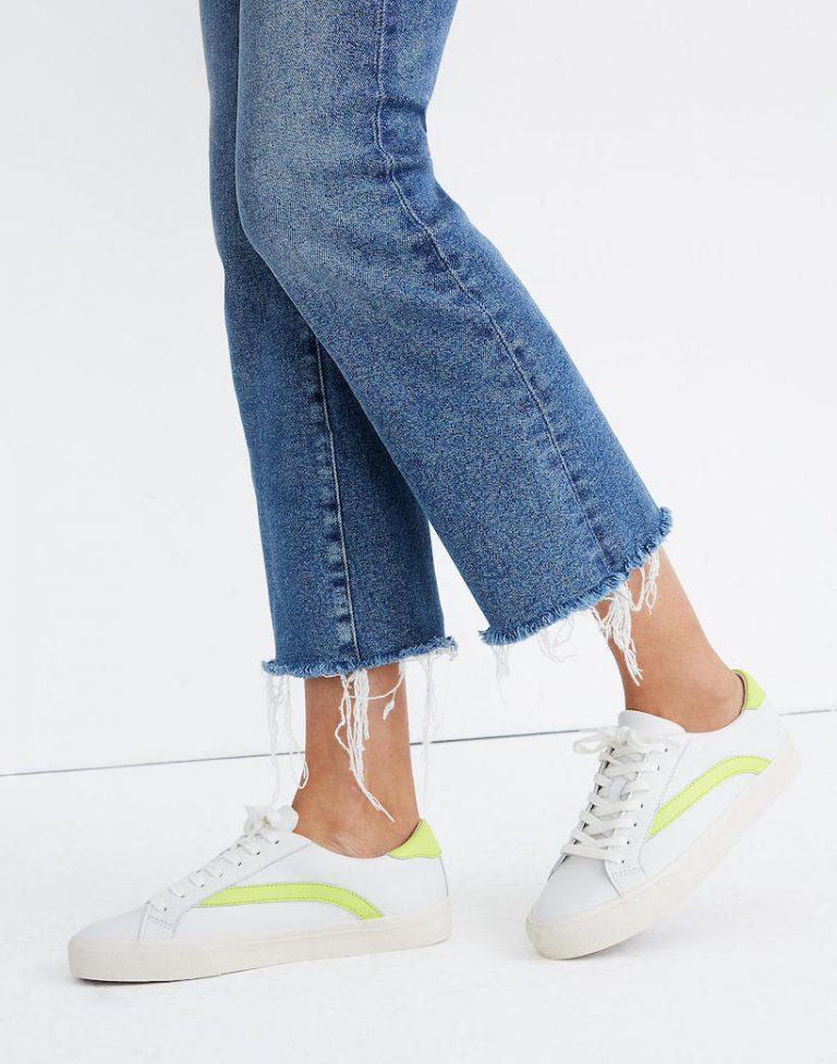 madewell sidewalk low sneakers, sneakers for spring