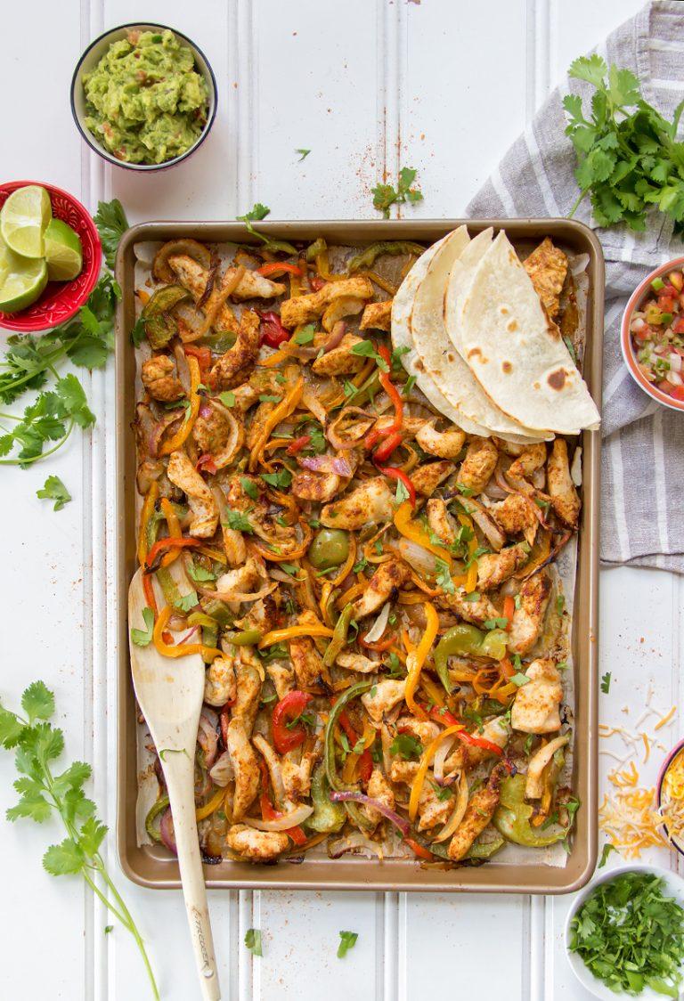 5-Ingredient Sheet Pan Chicken Fajitas