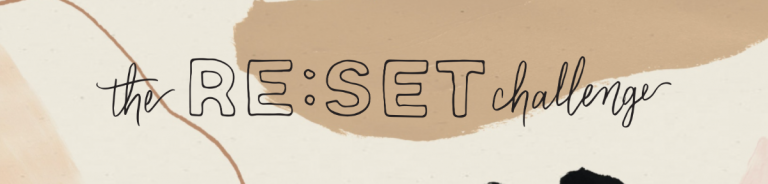 RE:SET Challenge blog banner