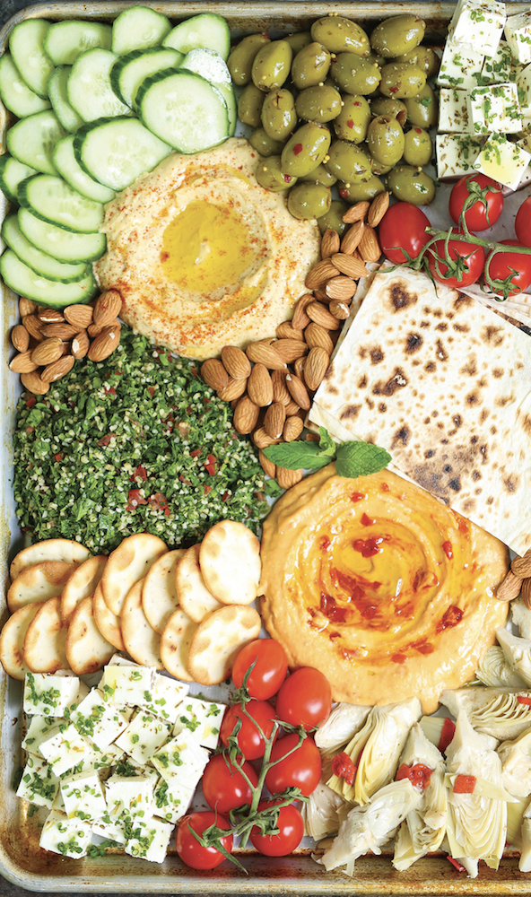 Perfect and simple mezze platter from Damn Delicious