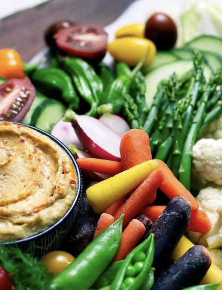 Take two snacks on vegetable platter