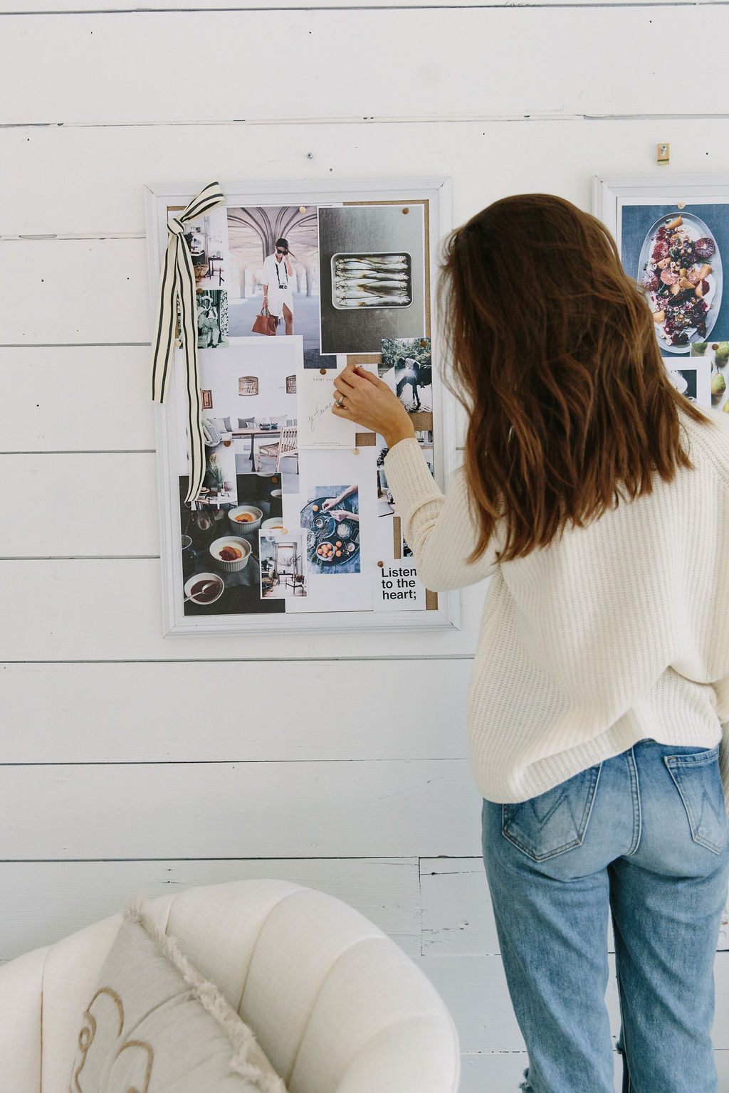 camille styles office vision board