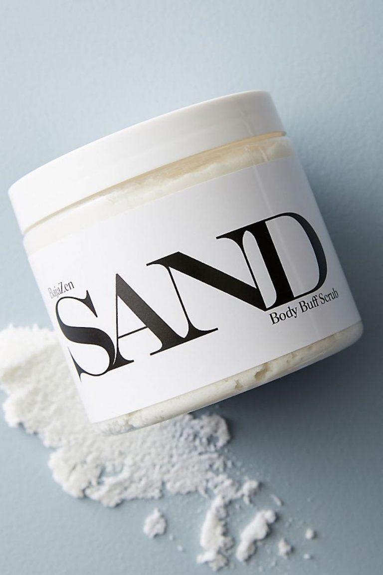 esfoliação corporal, areia
