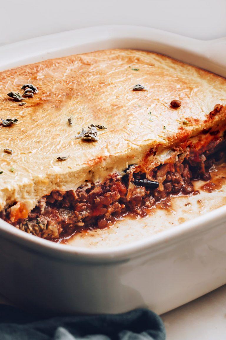 vegan moussaka from minimalist baker
