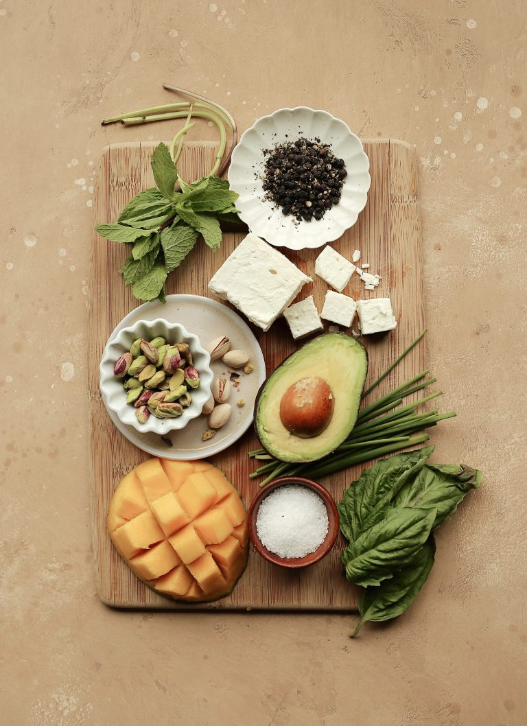 mango and feta salad