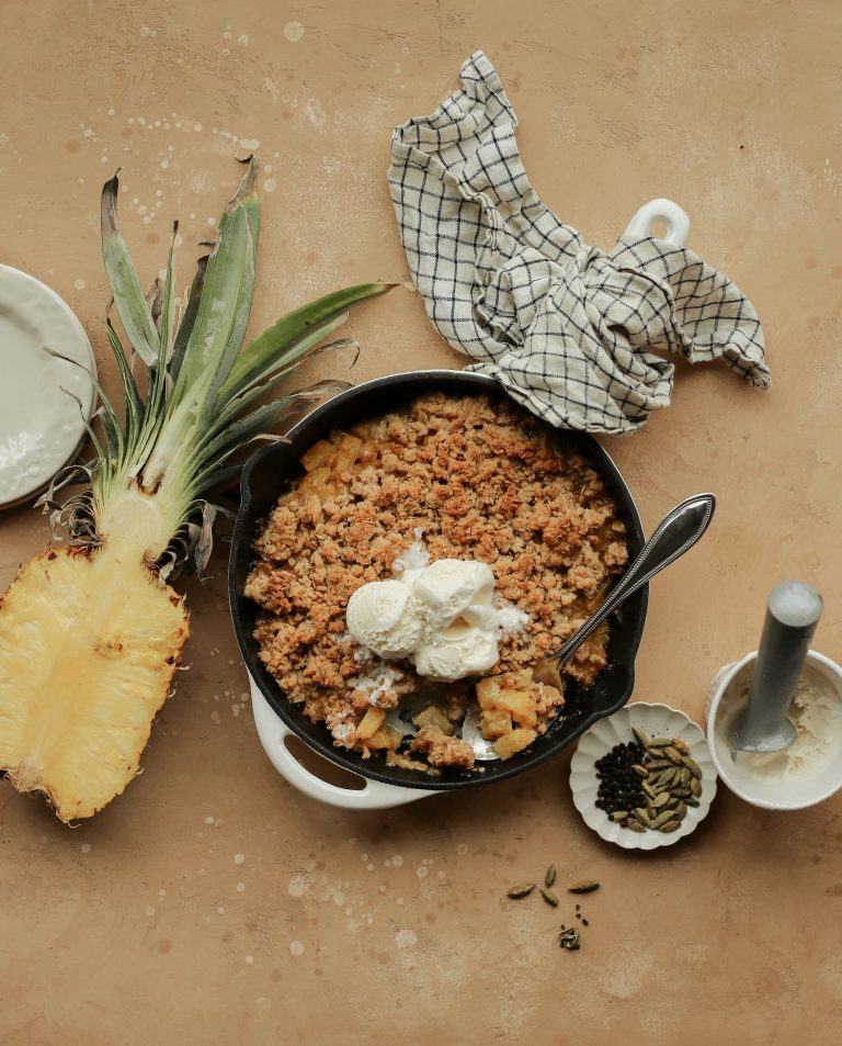 This Pineapple Crumble with Black Pepper will Shake Things Up