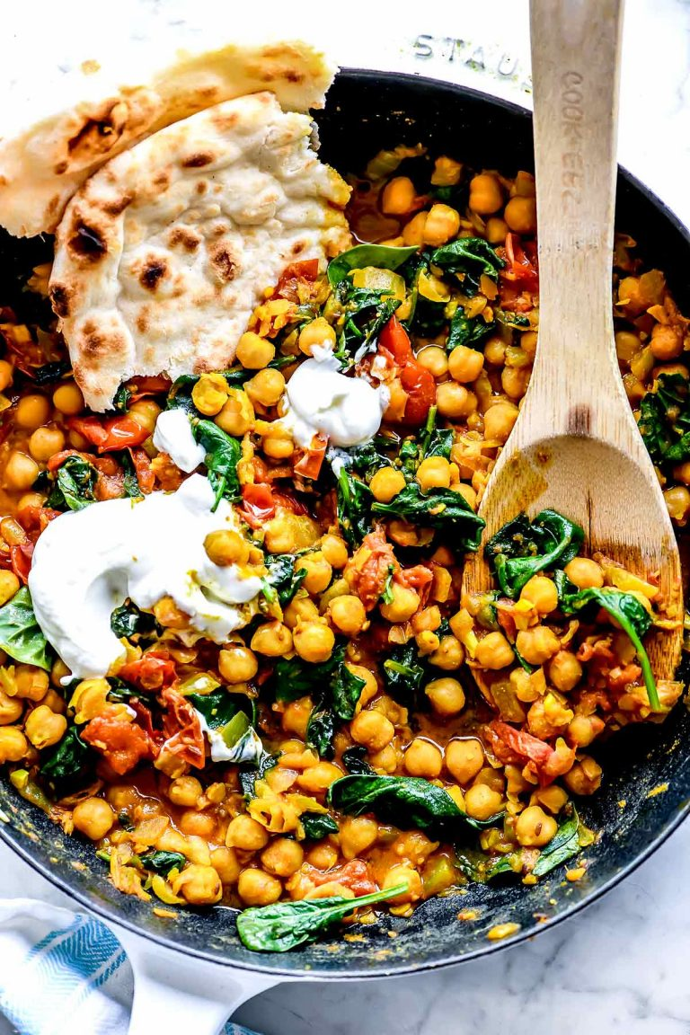 chana masala with spinach from foodie crush