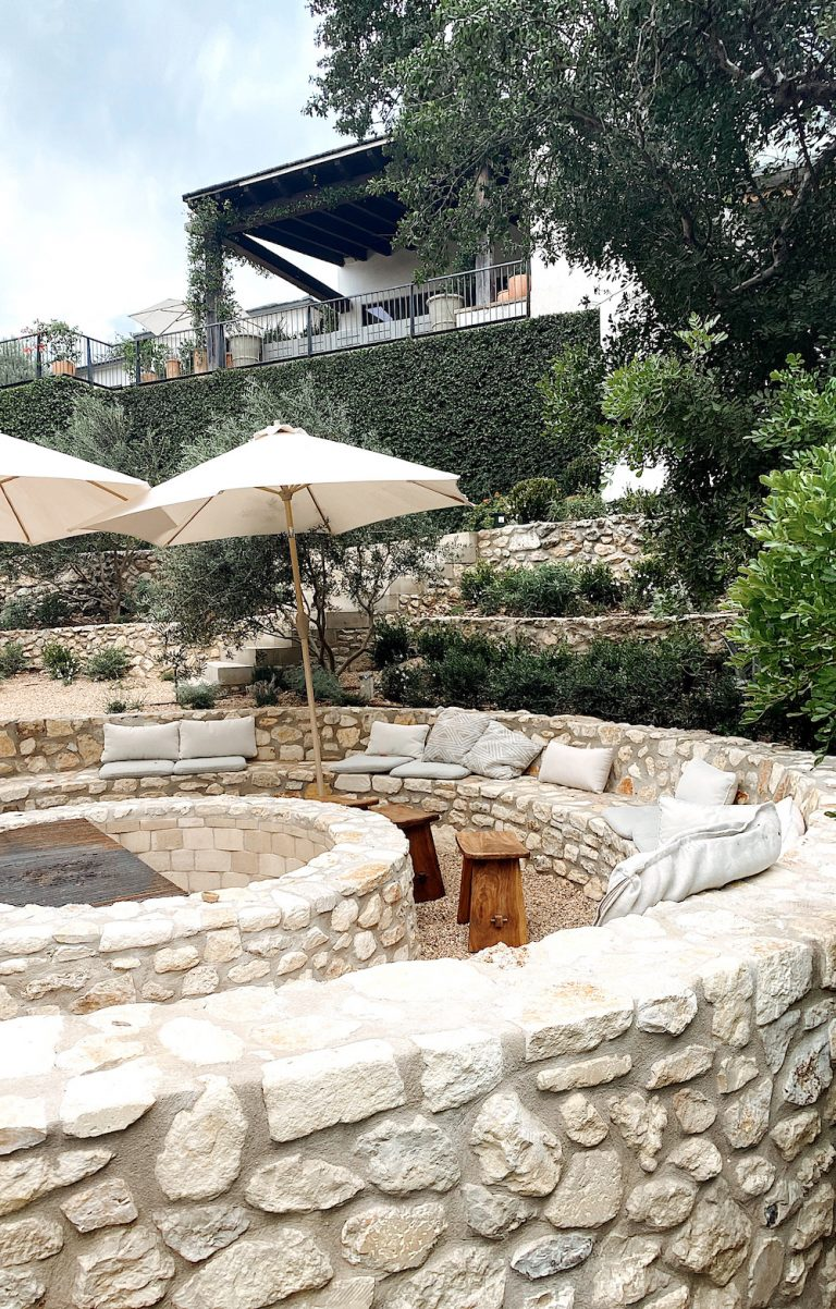 Camille Styles backyard project design with fire pit
