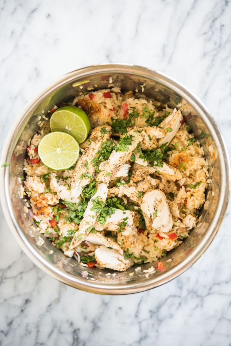 Chicken fajitas and rice from feeding and health