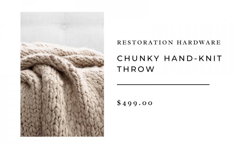 restoration hardware chunky hand knit throw
