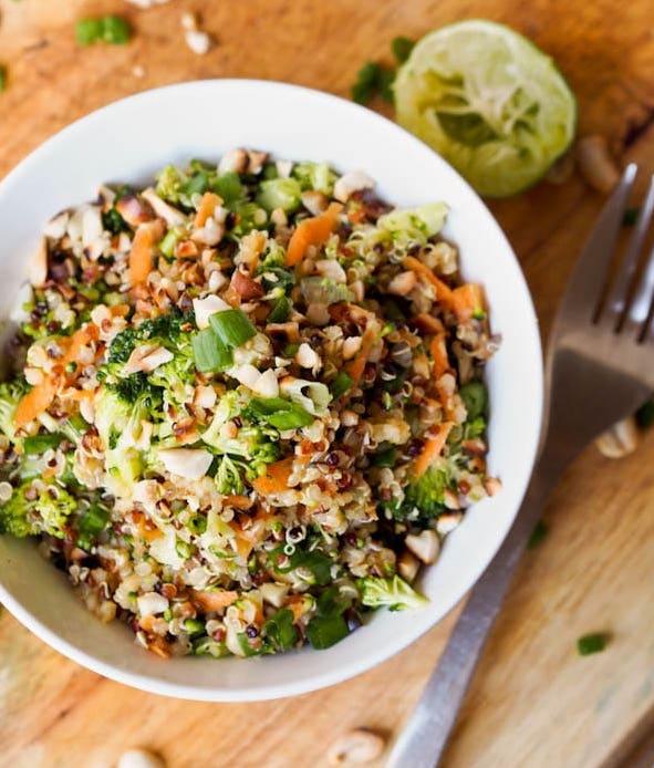 thai-veggie-quinoa-bowl from avocado pesto