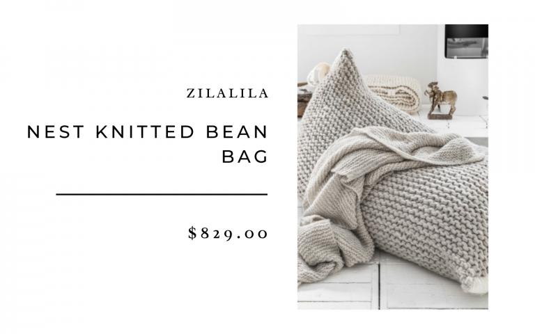 zilalaila knitted bean bag
