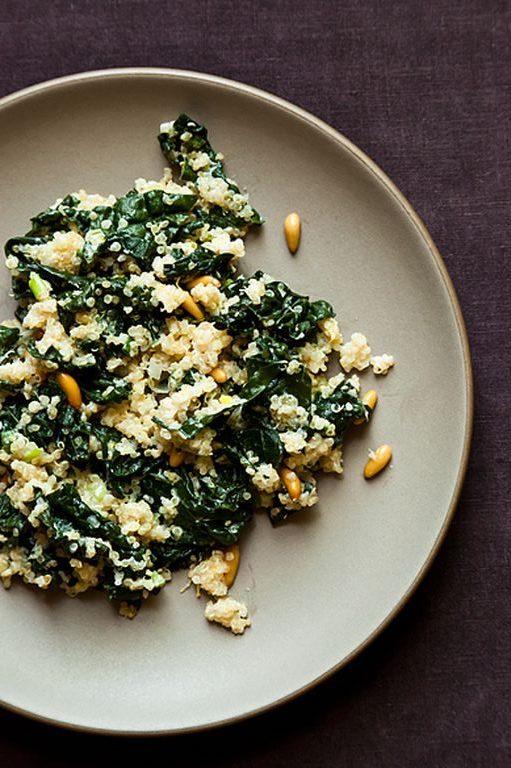 kale and quinoa pilaf