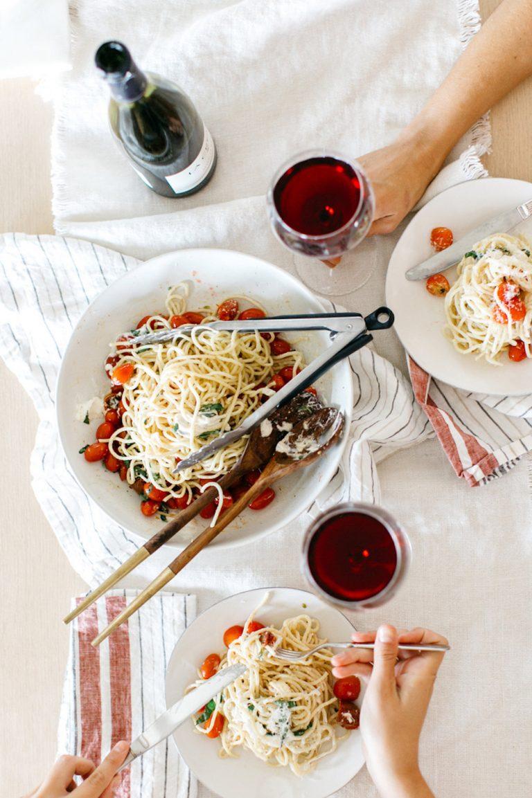 burrata and tomato pasta
