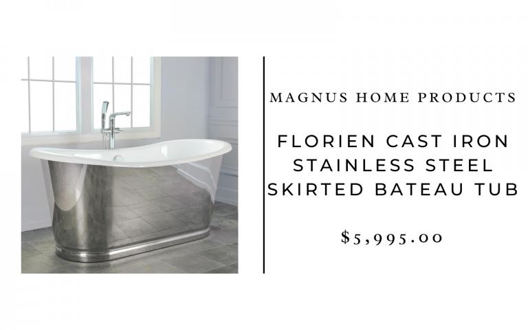 magnus home cast iron tub