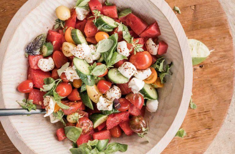 pepino tomate melancia receita de salada caprese