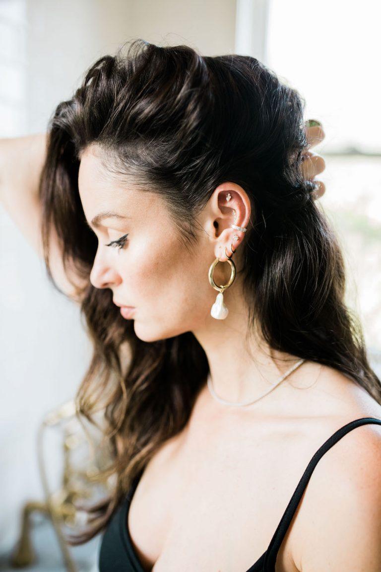 nicole trunfio, erth jewelry earrings