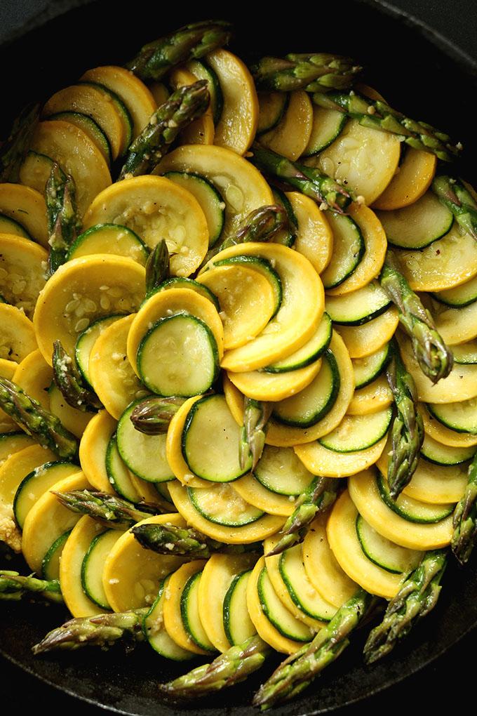 vegan zucchini gratin