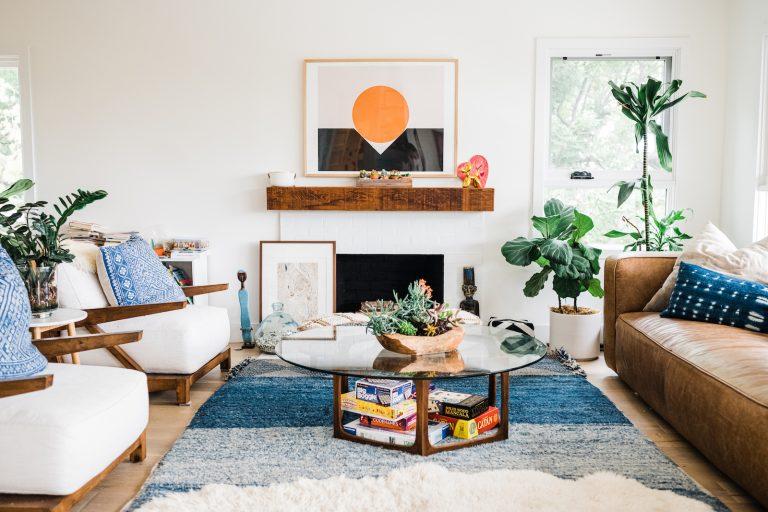 casa em bangalô califórnia, casa em Los Angeles, estilo boho caseiro chique
