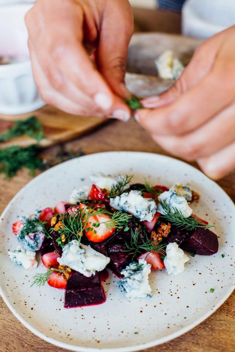 Beet Salad with Strawberries