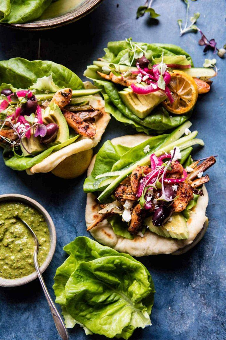 greek goddess chicken lettuce wraps